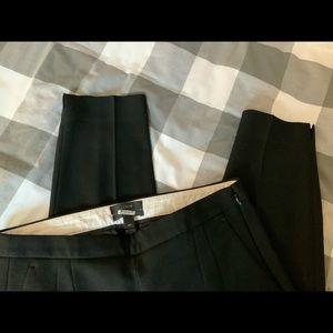 J Crew Martie Wool Blend Pant, Black, Size 4P